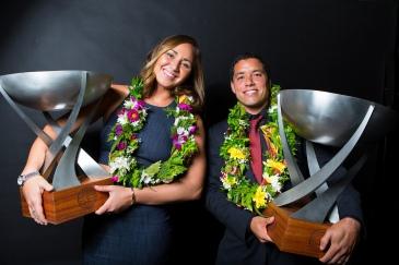 A foto clássica da dupla vencedora da WSL. Foto: WSL